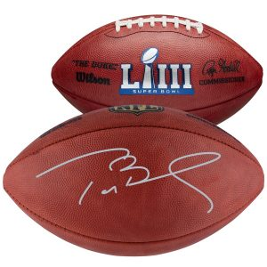 Autographed New England Patriots Tom Brady Fanatics Authentic Super Bowl LIII Pro Football