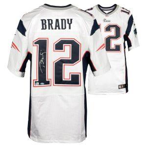 Autographed New England Patriots Tom Brady TRISTAR White Nike Elite Jersey