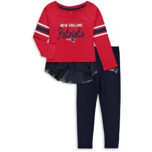 Girls Toddler New England Patriots Red Mini Formation Set