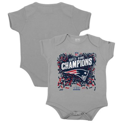 Infant New England Patriots  Heather Gray Super Bowl LIII Champions Bodysuit