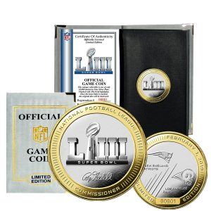 Los Angeles Rams vs. New England Patriots Super Bowl LIII Dueling Two-Tone Flip Coin
