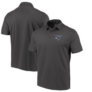 Men's New England Patriots  Charcoal Super Bowl LIII Champions Play Action Pass Polo Shirt