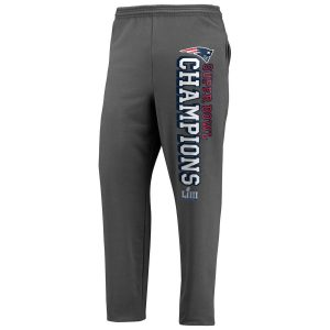 e6afc85837f Men s New England Patriots Charcoal Super Bowl LIII Champions Sweatpants