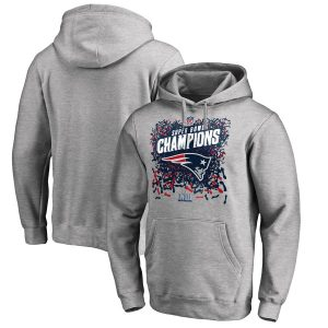 Men's New England Patriots Super Bowl LIII Champions Trophy Collection Locker Room Pullover Hoodie