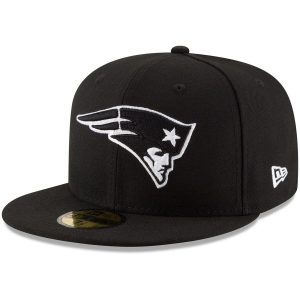 Men's New England Patriots New Era Black B-Dub 59FIFTY Fitted Hat