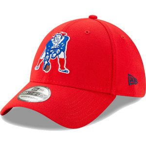 Men's New England Patriots New Era Red Team Classic Throwback 39THIRTY Flex Hat