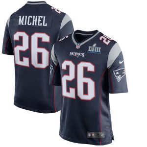 Men's New England Patriots Sony Michel Nike Navy Super Bowl LIII Bound Game Jersey