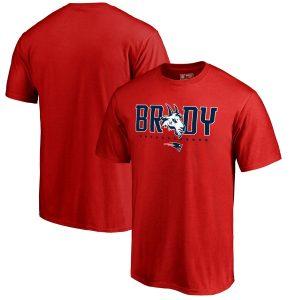 Men's New England Patriots Tom Brady Fanatics Branded Red GOAT Graphic T-Shirt