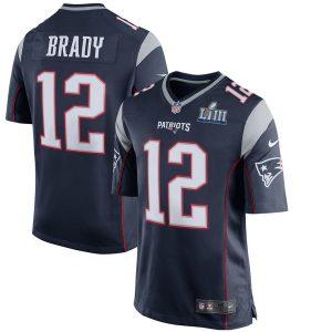 Men's New England Patriots Tom Brady Nike Navy Super Bowl LIII Bound Game Jersey