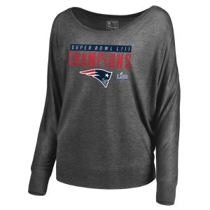 New England Patriots Heather Gray Long Sleeve T-Shirt