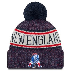New England Patriots New Era 2018 NFL Sideline Cold Weather Official Historic Sport Knit Hat