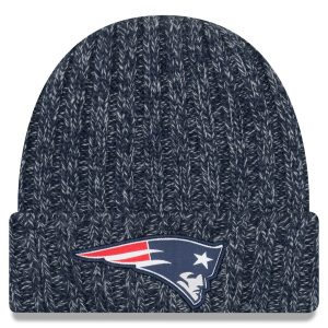 New England Patriots New Era Navy 2018 NFL Sideline Cold Weather Official Knit Hat
