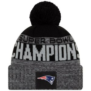New England Patriots New Era Super Bowl LIII Champions Parade Knit Hat – Heather Charcoal