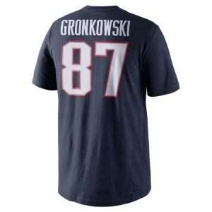 New England Patriots Rob Gronkowski Nike NFL Men's Pride Name and Number T-Shirt