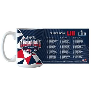 New England Patriots Super Bowl LIII Champions 15oz. Roster Coffee Mug