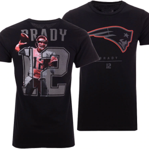New England Patriots Tom Brady Majestic NFL Men's Notorious Player T-shirt