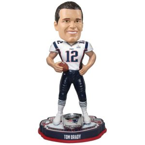 "New England Patriots Tom Brady Super Bowl LIII Champions 8"" Bobblehead"