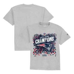 Toddler New England PatriotsHeather Gray Super Bowl LIII Champions T-Shirt