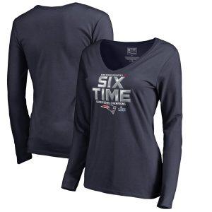 Women's New England Patriots  Hometown V-Neck Long Sleeve T-Shirt