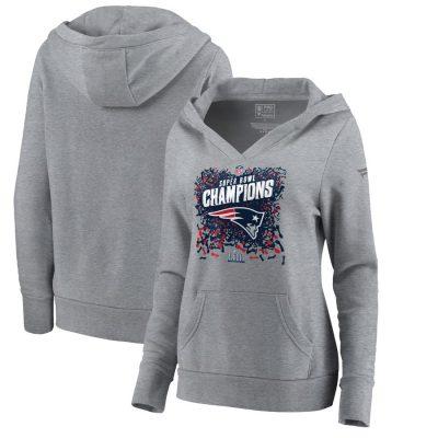 Women's New England Patriots NFL  Steel Super Bowl LIII Champions Pullover Hoodie