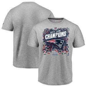 Youth New England Patriots Heather Gray Super Bowl LIII Champions T-Shirt