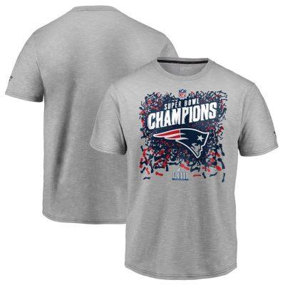 Youth New England Patriots Heather Gray Super Bowl LIII Champions T-Shirt