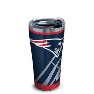 New England Patriots Rush Stainless Steel Tumbler With Lid 20 oz
