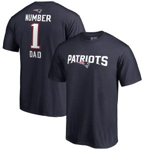 Men's New England Patriots Fanatics Branded Navy #1 Dad T-Shirt