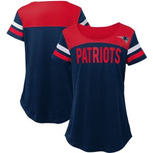 New England Patriots Juniors Receiver T-Shirt – Navy/Red
