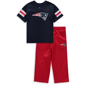 New England Patriots Toddler Training Camp Pants & T-Shirt Set – Navy/Red