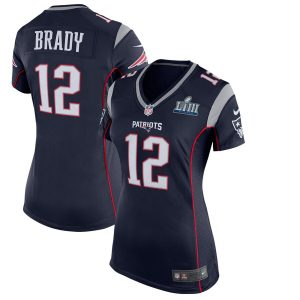 Women's New England Patriots Tom Brady Nike Navy Super Bowl LIII Bound Game Jersey