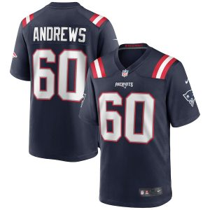 Men's New England Patriots David Andrews Nike Navy Game Jersey