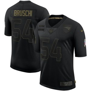 Men's New England Patriots Tedy Bruschi Nike Black 2020 Retired Limited Jersey