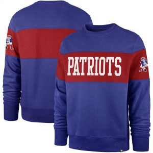 '47 New England Patriots Royal Interstate Throwback Sweatshirt