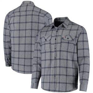Antigua New England Patriots Navy Live Long Sleeve Woven Button-Up Shirt