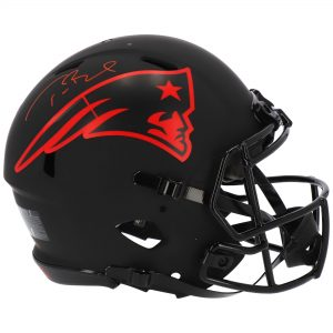 Autographed New England Patriots Tom Brady Riddell Eclipse Alternate Speed Authentic Helmet