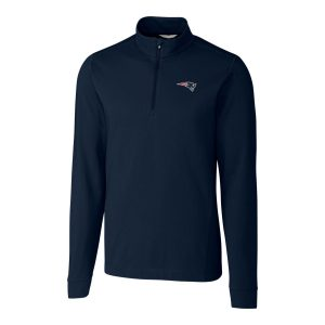 Cutter & Buck New England Patriots Navy Advantage Quarter-Zip Pullover Jacket