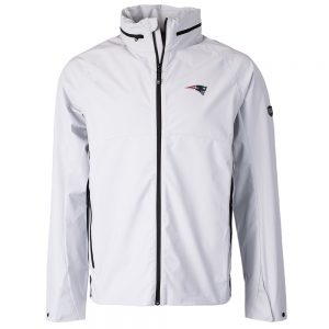 Cutter & Buck New England Patriots White Vapor Full-Zip Jacket