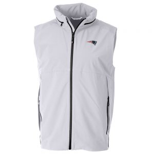 Cutter & Buck New England Patriots White Vapor Full-Zip Vest