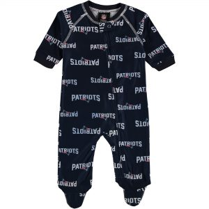 New England Patriots Newborn Full Zip Raglan Coverall