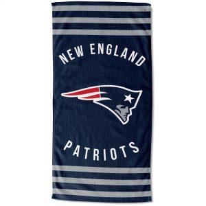 New England Patriots The Northwest Company 30″ x 60″ Striped Beach Towel