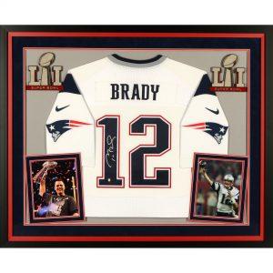 New England Patriots Tom Brady Super Bowl LI Champions Autographed Jersey