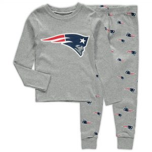 Toddler New England Patriots Heathered Gray Sleep Set
