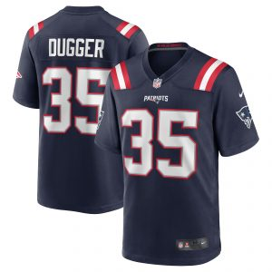Nike Kyle Dugger New England Patriots Navy Team Game Jersey