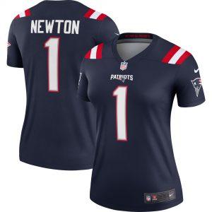 Women's New England Patriots Cam Newton Nike Navy Legend Jersey